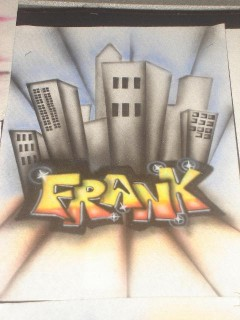 Airbrush on Shirt Name with Design
