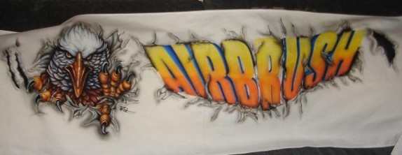 airbrush on banner